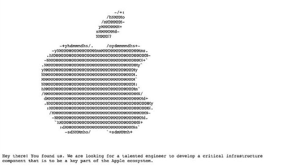 Apple hidden job ad
