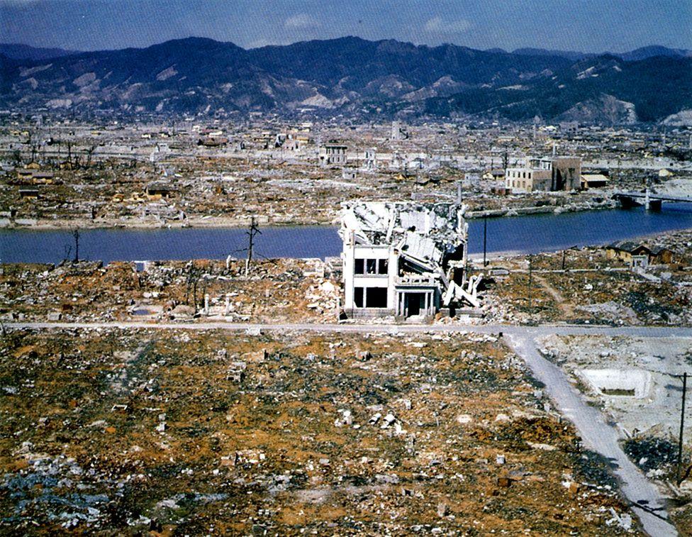 Den förstörda staden Hiroshima 1945
