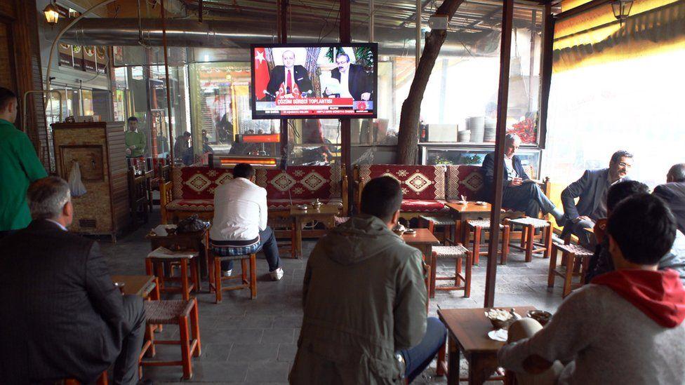 Cafe in Diyarbakir city
