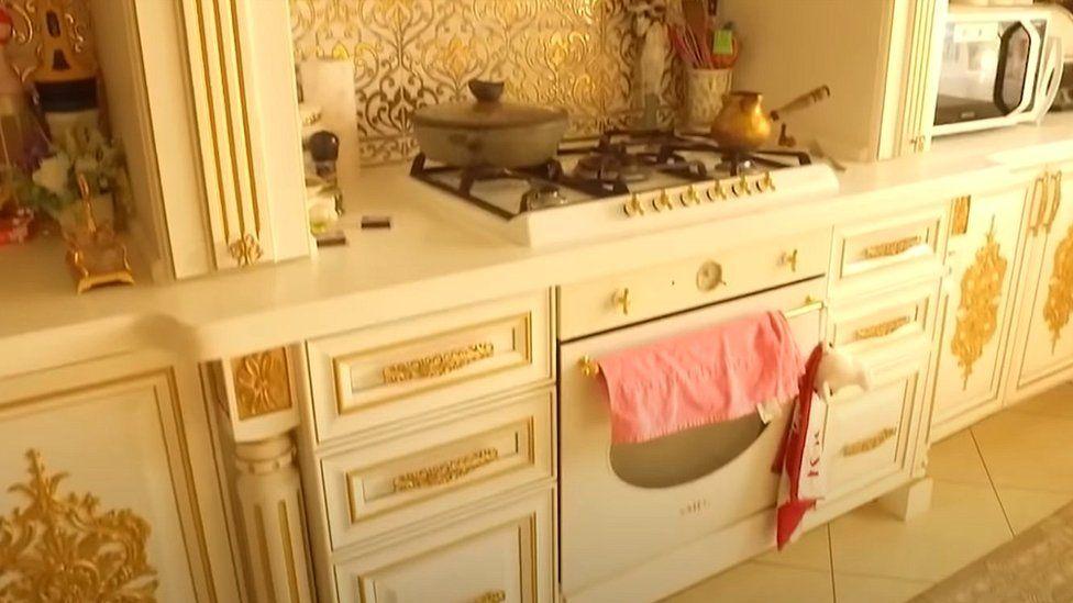 Kitchen in luxury villa
