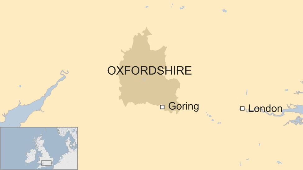 Map of Goring-on-Thames