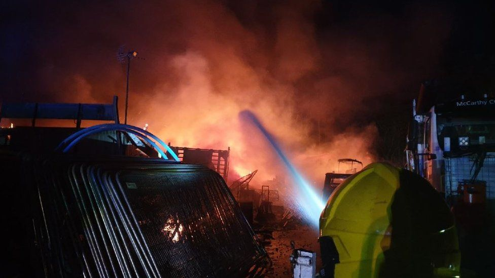 Fire in Clevedon Road