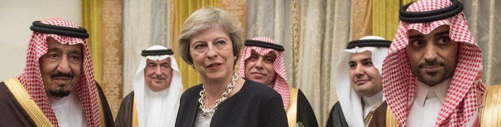 Prime Minister Theresa May meets King Salman bin Abdulaziz al Saud of Saudi Arabia