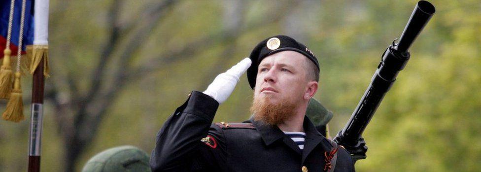 Motorola at military parade in Donetsk, 9 May 16