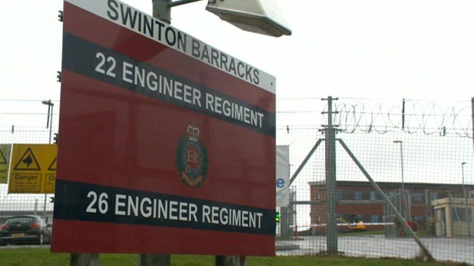 Swinton Barracks sign