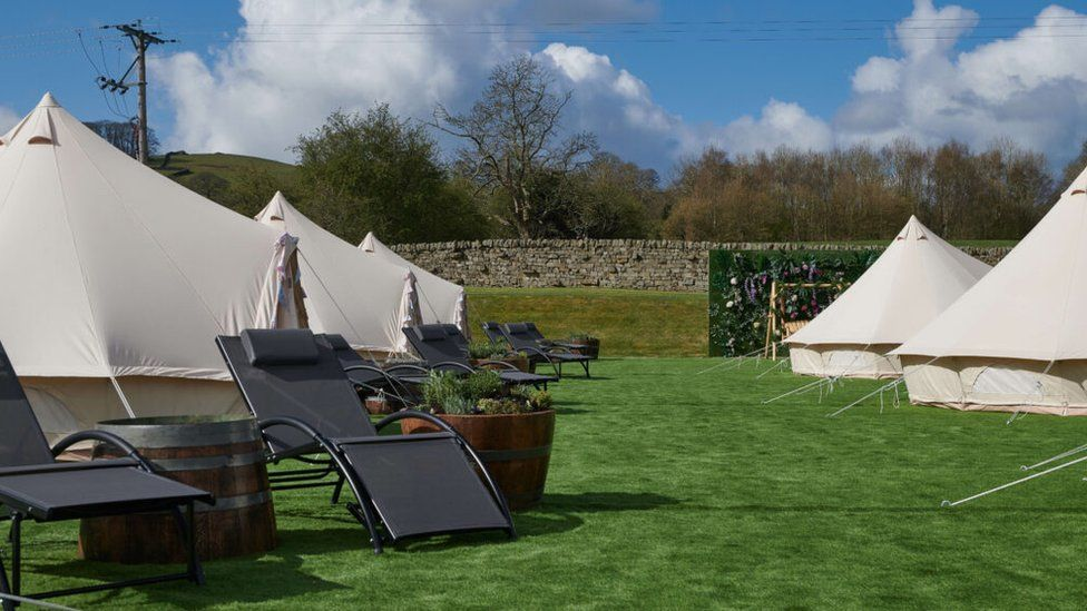The Devonshire Arms Hotel & Spa sourced bell tents, garden furniture and other items so it could continue running its spa business from its lawn