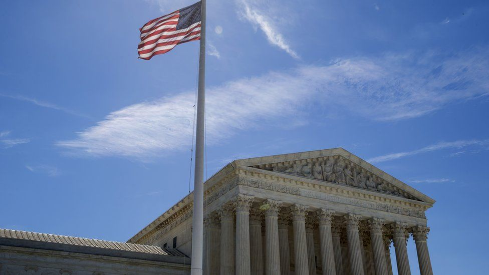 US flag flies outside the Supreme Court in Washington