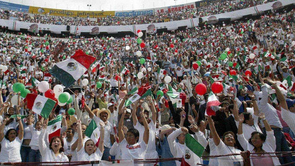 Mexicans at a rally