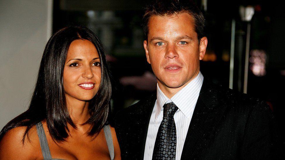 Matt Damon and wife Luciana Bozan Barroso