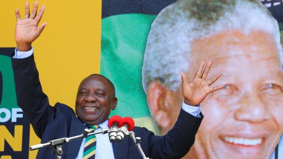 Ramaphosa gives speech