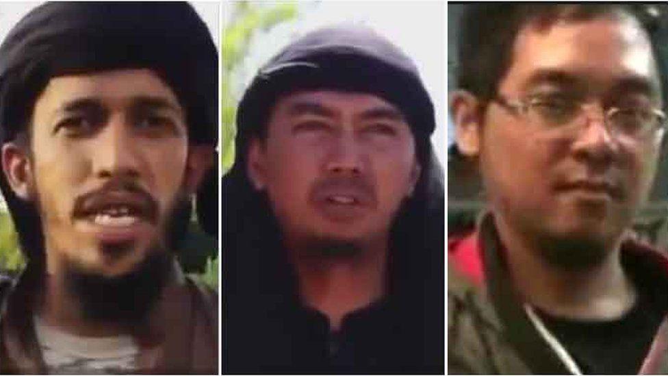 Three Indonesian IS leaders in Syria: Abu Jandal, Bahrumsyah, and Bahrun Naim
