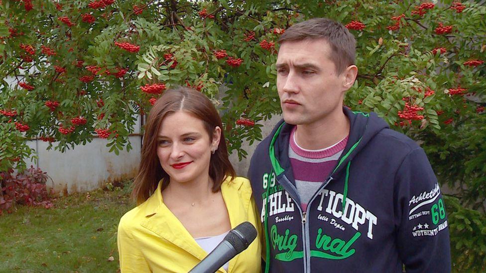 Siberian couple Yelena Gorbunova and Alexander, September 2017