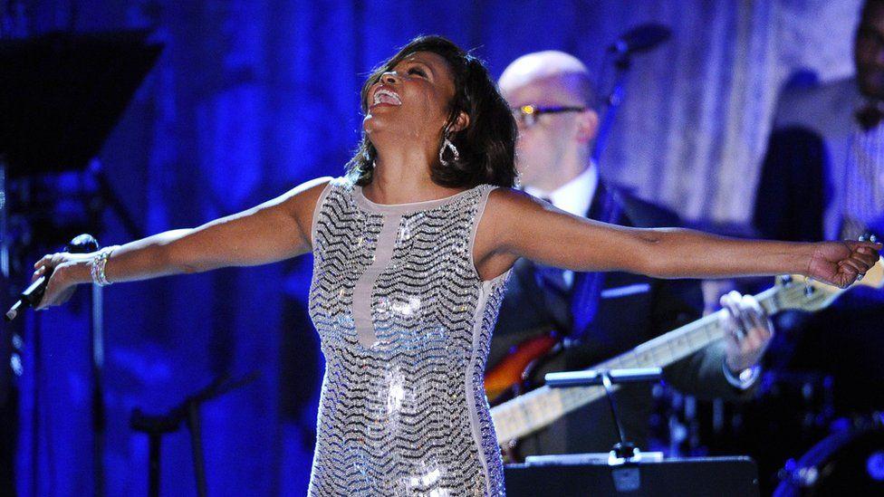 Whitney Houston performing live