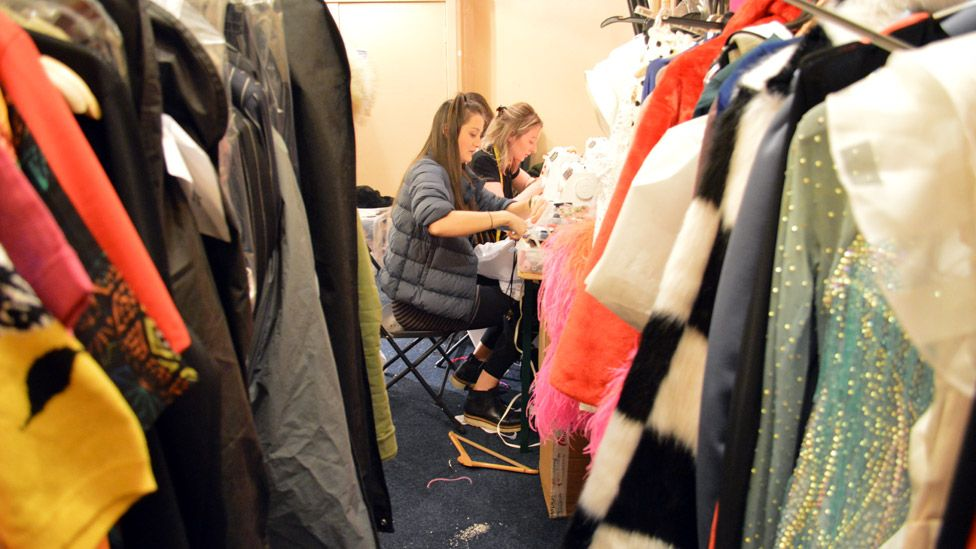Strictly clothes racks and wardrobe dept in Blackpool