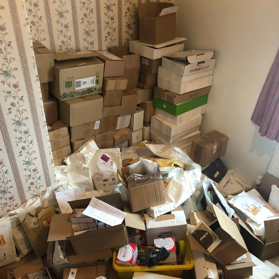 Boxes stacked up