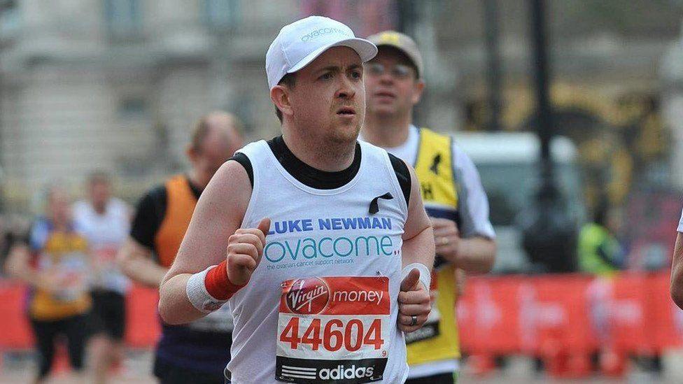 Luke Newman running the London Marathon