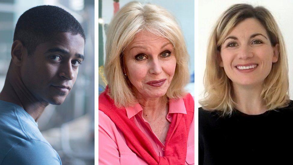 Alfred Enoch, Joanna Lumley and Jodie Whittaker