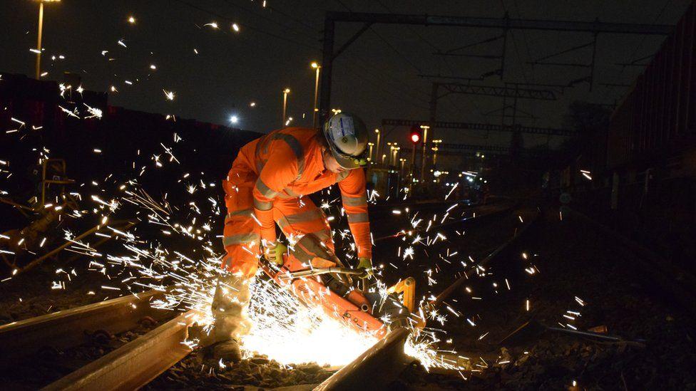 Engineer working on the railway