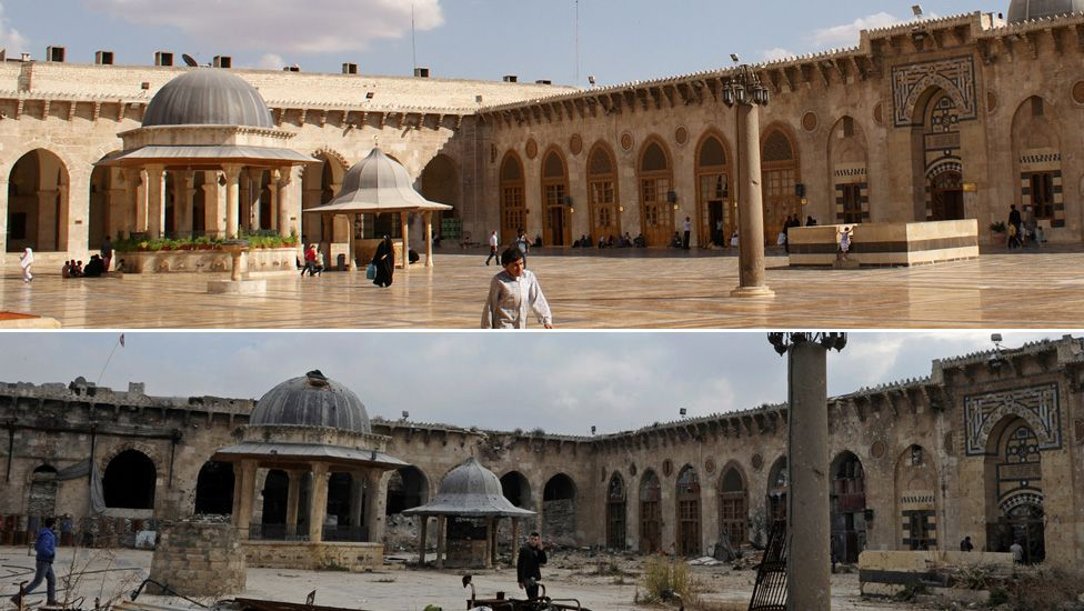 Aleppo Before And After Images Bbc News