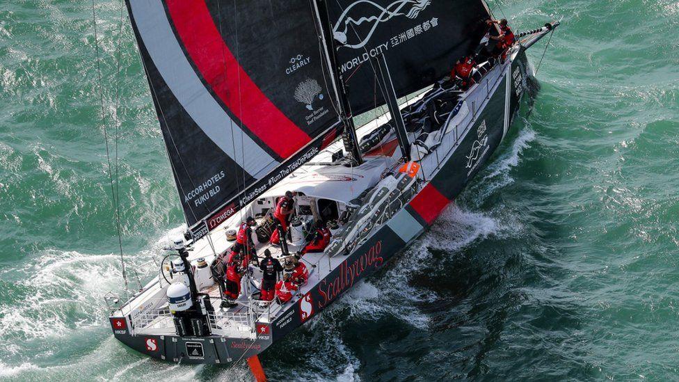 Team Sun Hung Kai's Scallywag yacht