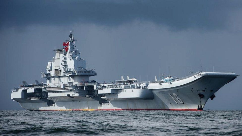 China's aircraft carrier, the Liaoning, arrives in Hong Kong on July 7, 2017