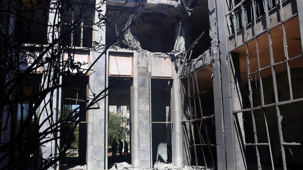 Heavy damage at the Grand National Assembly of Turkey (16/07/2016)