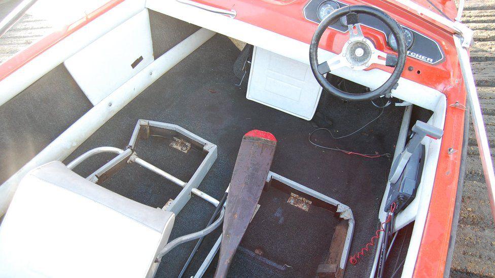 Inside of speedboat