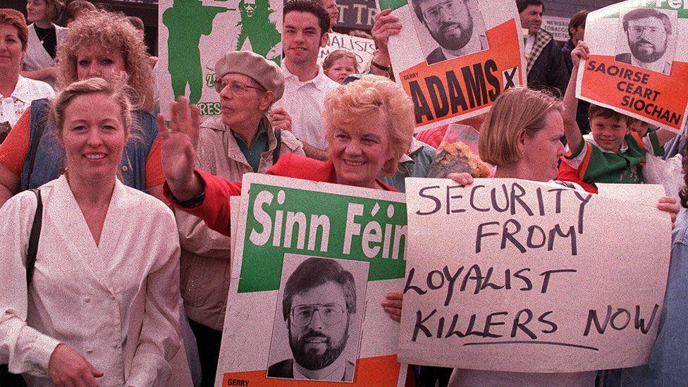 Sinn Fein supporters