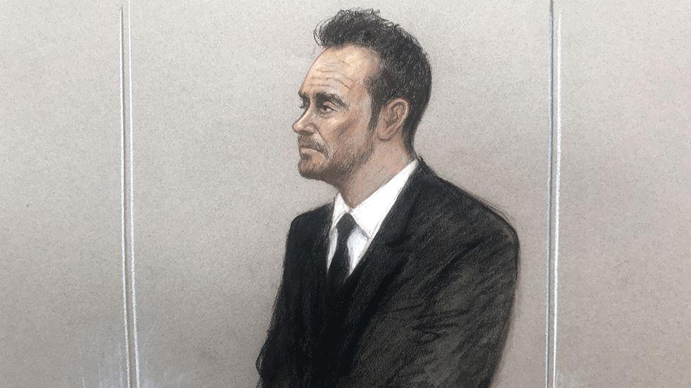 Ant McPartlin court sketch