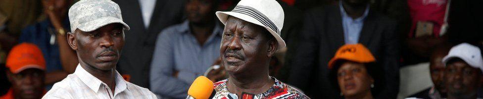 Raila Odinga addresses supporters in Nairobi, 25 October