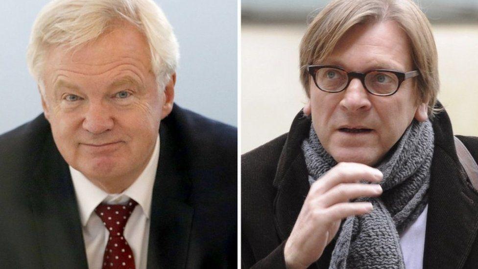 David Davis (l) and Guy Verhofstadt