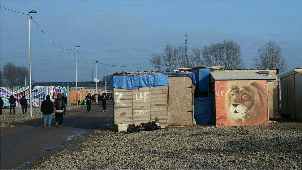 Refugee camp at Dunkirk