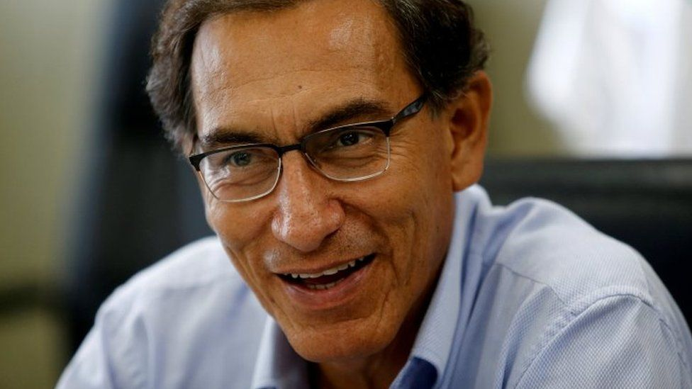 Peru's Vice President Martin Vizcarra talks during an interview with Reuters at his office in Lima, Peru, March 31, 2017.