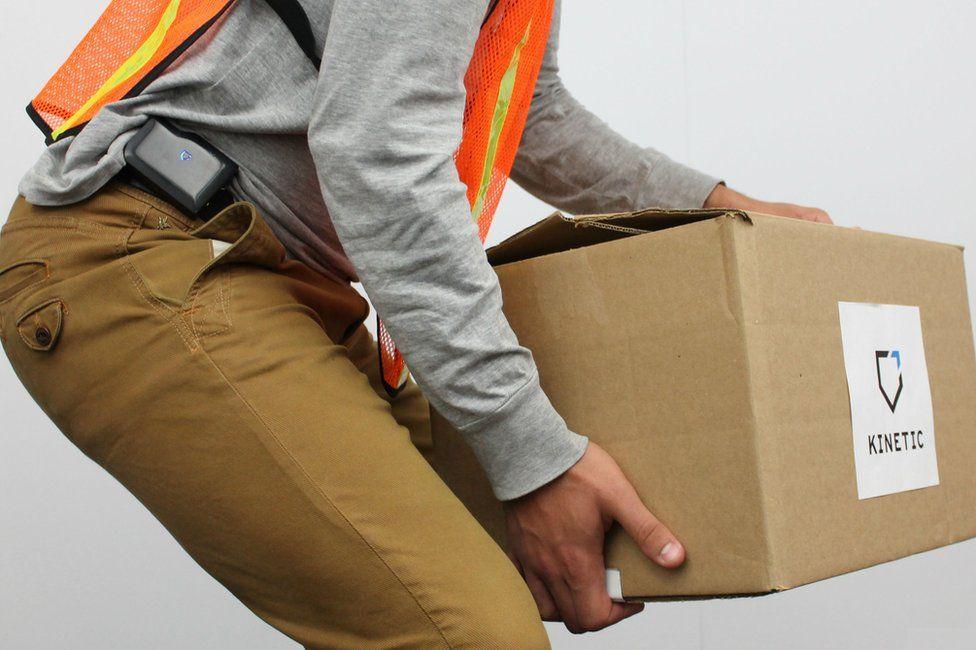 Man lifting box