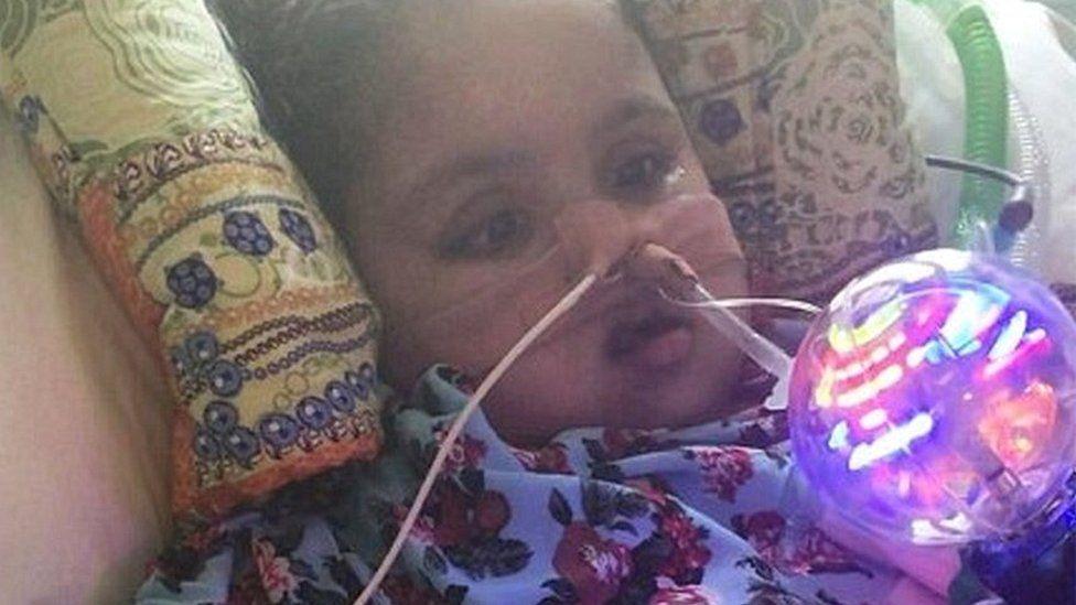 Tafida Raqeeb in hospital