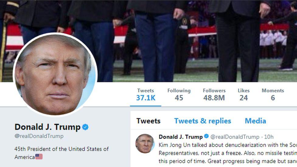 Donald Trump's Twitter account