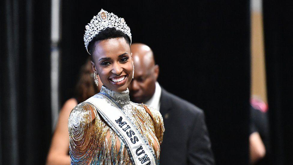 Zozibini Tunzi after winning Miss Universe