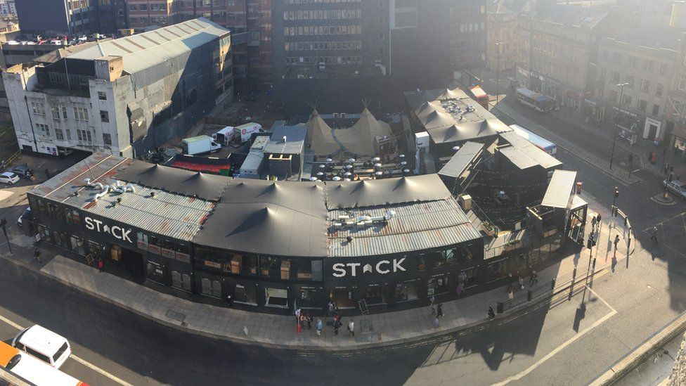 Stack Newcastle from above