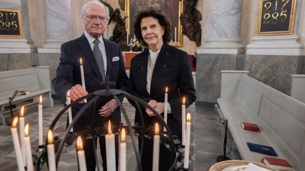 Sweden's King Carl Gustaf and Queen Silvia