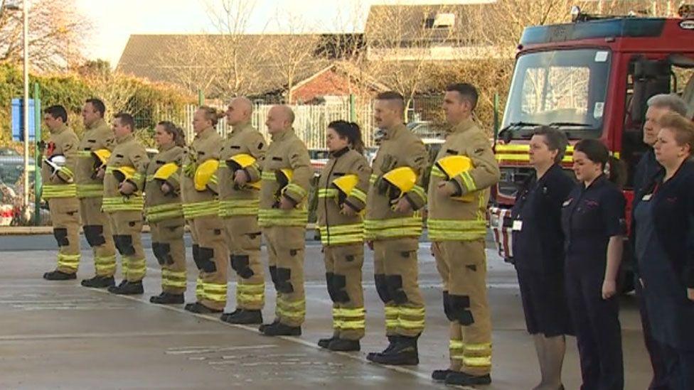 Firefighters in Wrexham