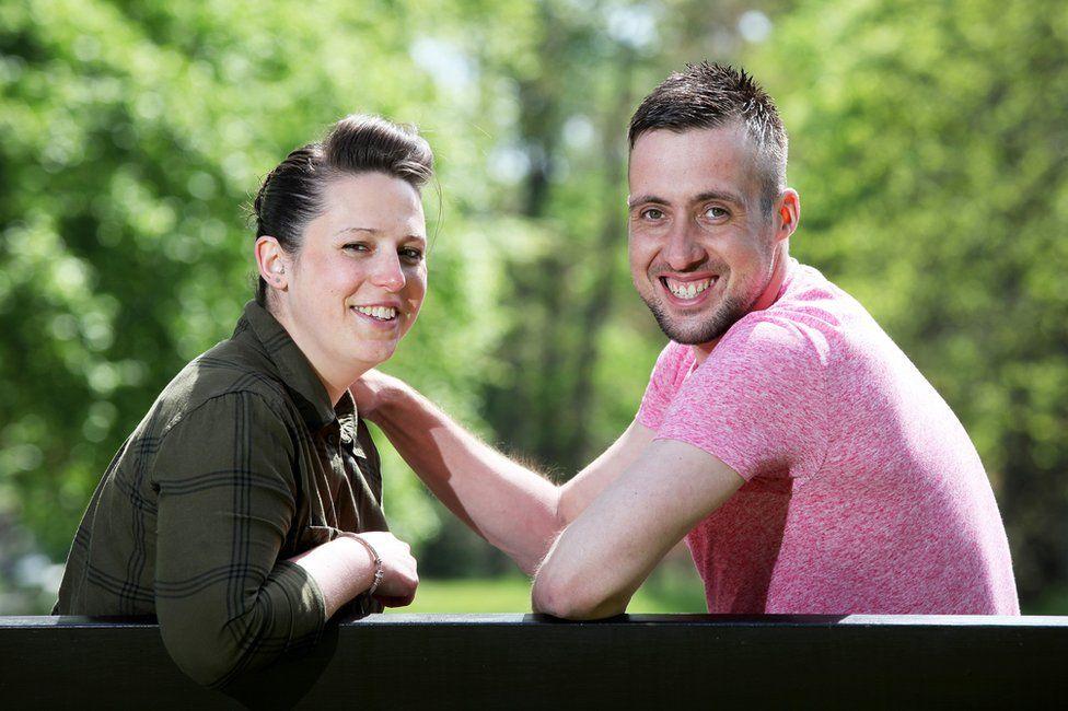 Paul Duncan and his ex-girlfriend Rebecca Morrice