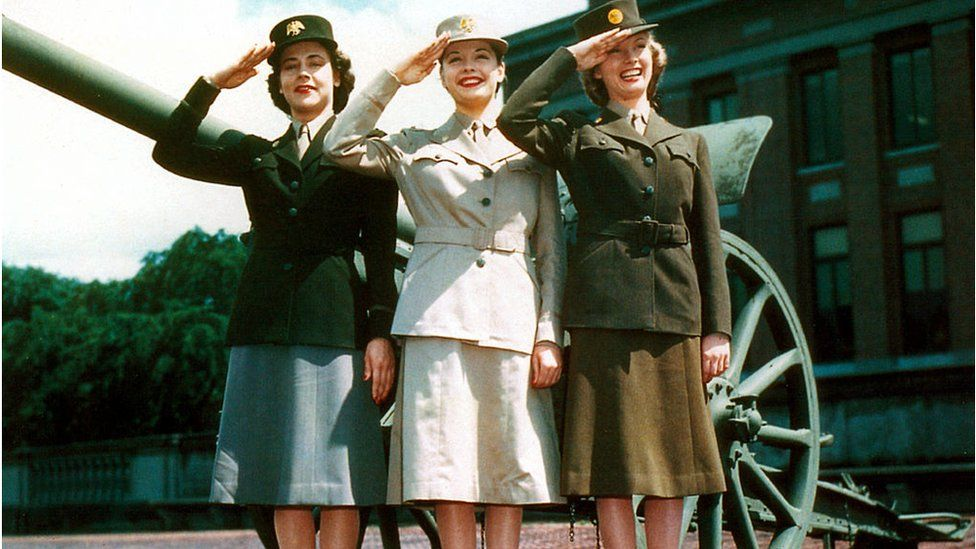 Members of the US Auxiliary Army Corps
