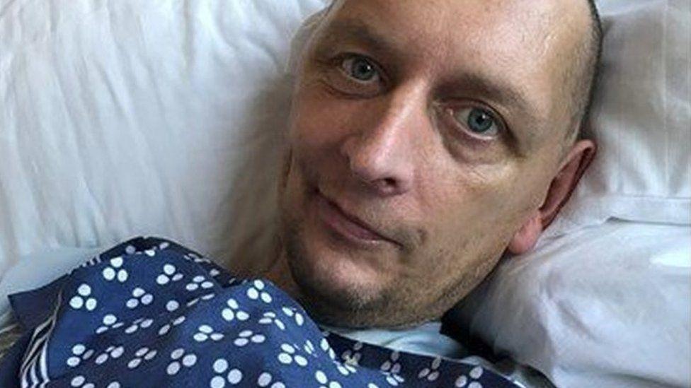 Alisdair in hospital
