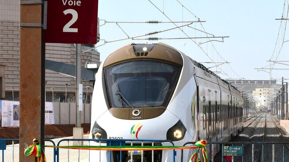 New express train in Dakar, Senegal
