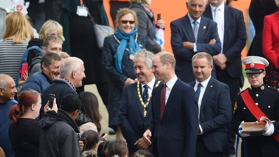 Prince Williams meets local community leaders and members of the local community
