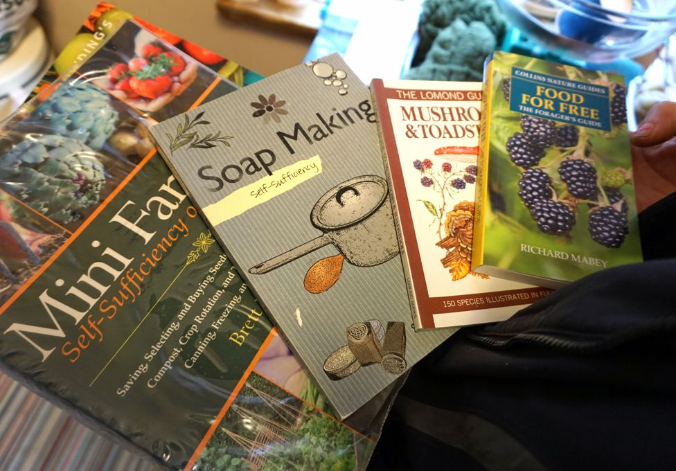 Books about self-sufficiency, foraging etc