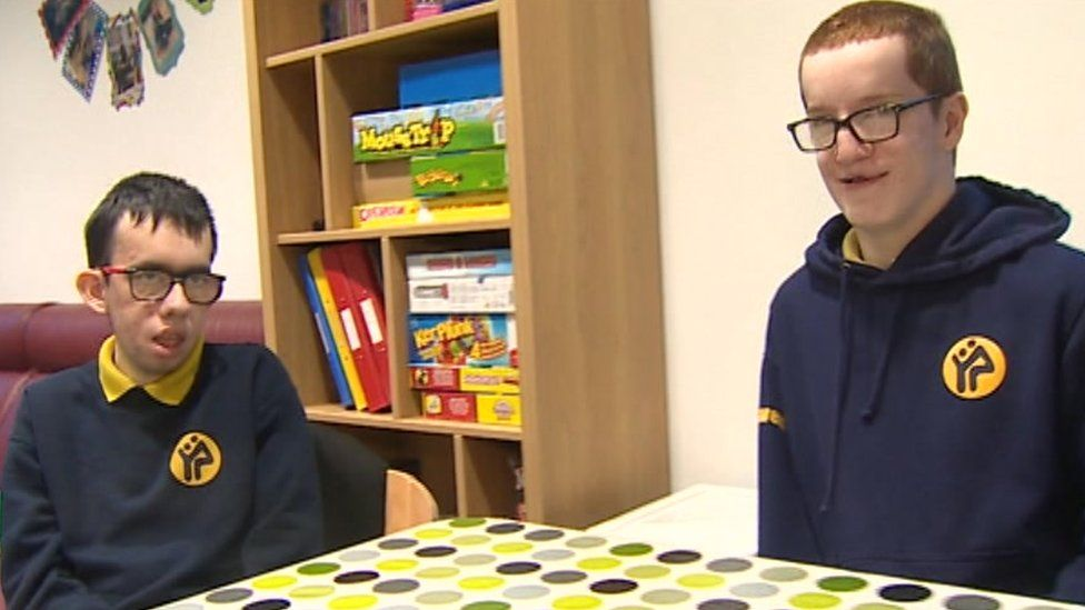 Rhodri and Jac, two of Hafan y Sêr's teen respite residents