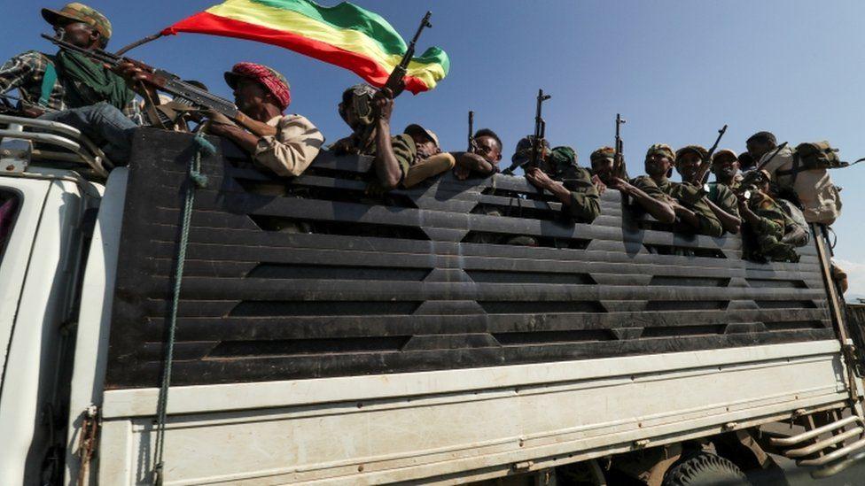 Amhara forces in Tigray, Ethiopia -