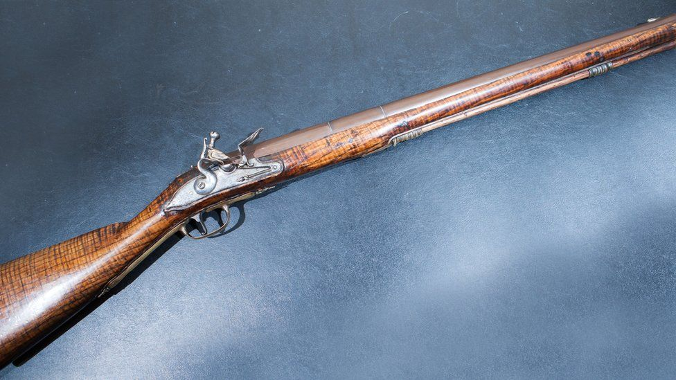 Musket on display at the Orange Heritage Museum believed to have been used in the Battle of the Boyne