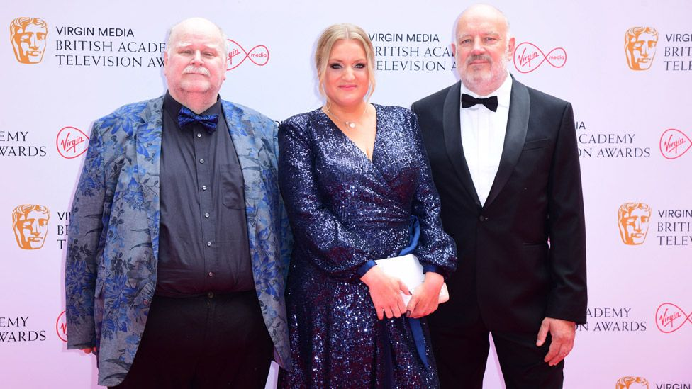 Left to right: Trevor Cooper, Daisy May Cooper and Paul Cooper